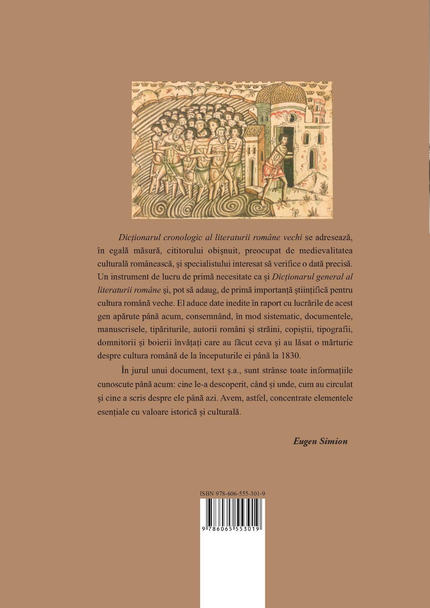 Dictionarul Cronologic al Literaturii Romane Vechi